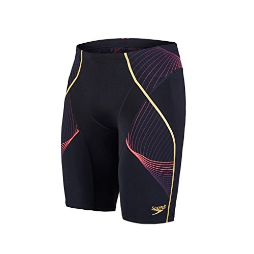 speedo-mens-fit-pinnacle-jammer-black-psycho-red-global-gold-size-28