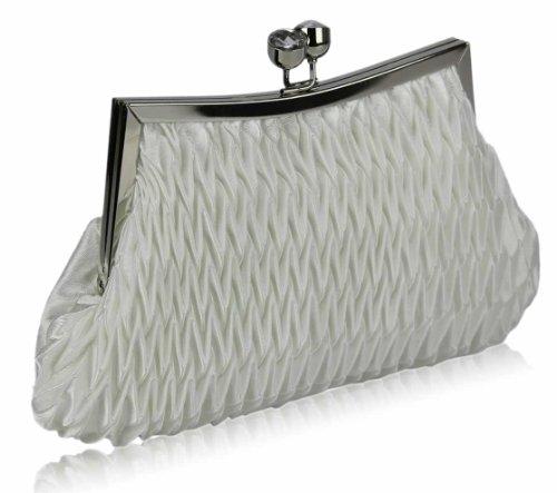 TrendStar Neue Frauen Kristall Clutch-Bag Elfenbein-Partei-Hochzeit Damen Diamante Abendtasche Elfenbein 4