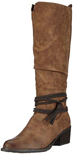 Comb A 366 Langschaft Stiefel Marco 25509 Tozzi Braun muscat Damen q7418