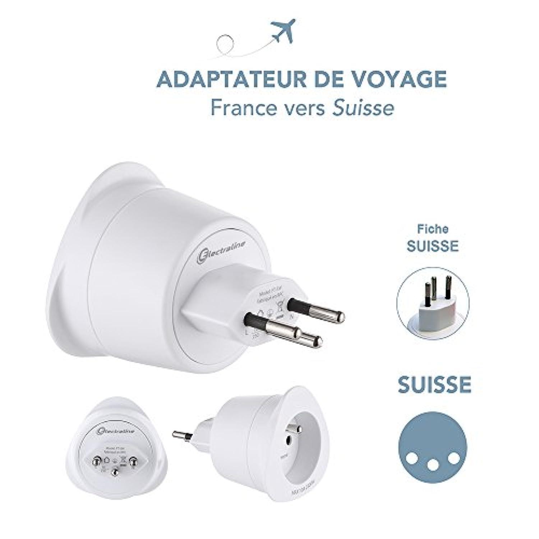 Adaptateur De Voyage France Vers Suisse LTE Design Leach Travel Europe Gamme Bulle- BB0163