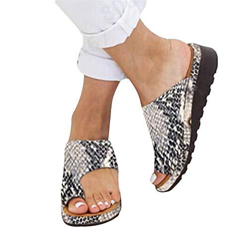 dges, Clip Toe Slip-On Sandalen, PU Leder Sommer Strand Schuhe Slipper Flip-Flop für Damen Damen Plus Größe ()