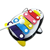 Education Toys,Fortan Baby Kid 5-Note Xylophone Musical Toys Wisdom Development Penguin_Black