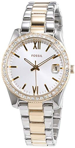Fossil Damen Analog Quarz Uhr mit Edelstahl Armband ES4319
