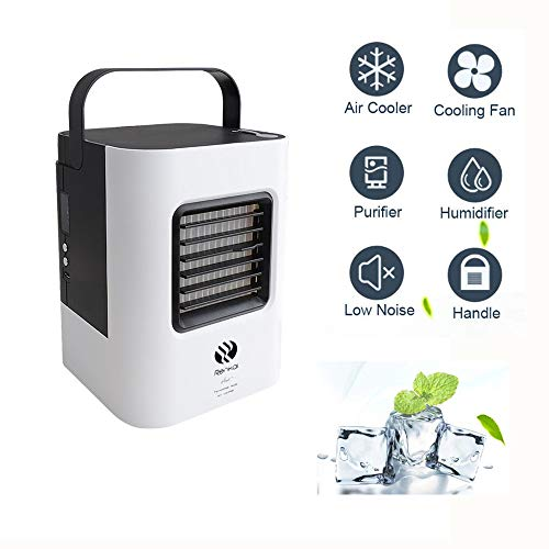 99native 2019 Nouveau Mini Climatiseur,4 en 1 Mini Climatiseur/Humidificateur/Purificateur/Fan,Climatiseur Portable Climatisation Silencieux Mobile Mini Personnel Air Refroidisseur (Noir)