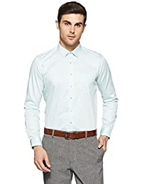 Van Heusen Men's Plain Slim Fit Cotton Formal Shirt