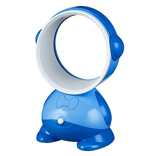 Royal Blue Fan (Handheld Schreibtisch blattloser lüfter Mini USB wingless no Leaf tragbare persönliche kühlung wiederaufladbare elektrische lüfter für das büro zu Hause und unterwegs im freien-Royal Blue)