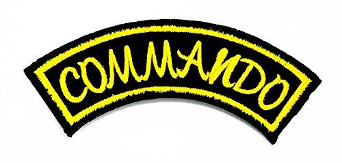 rabana Commando Funny Worte Patch für Heimwerker-Applikation Eisen auf Patch T Shirt Patch Sew Iron on gesticktes Badge Schild Kostüm (Commando Kostüme)