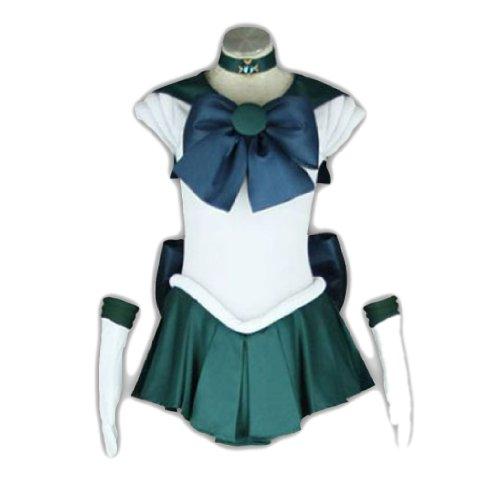 Sailor Neptun Moon Kostüm - Dream2Reality japanische Anime Sailor Moon Cosplay Kostuem -Sailor Neptun Kaiou Michiru 1st Ver Fighting Kid Size Small