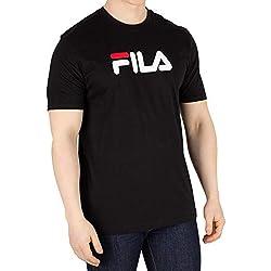 Fila Hombre Camiseta con gráfico del águila, Negro, L