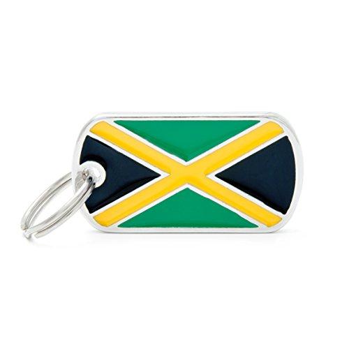 Médaille MyFamily Military Petite Flags Jamaïque plaque chien gravure gratuite coutume chat