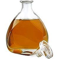 AMAVEL Caraffa da Whisky Lismore - Design Elegante - Caraffa con Tappo Ermetico - Decanter in Vetro - Realizzata a Mano - Vetro Chiaro di Qualità - Capacità: 700 ML
