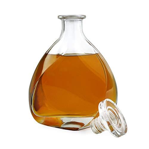 AMAVEL Glaskaraffe mit Deckel – Lismore Whisky Karaffe Glas – Dekanter – luftdichter...
