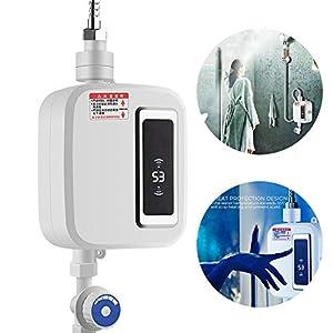 Dr.Taylor 3500W Calentador de Agua Instantáneo, Eléctrico Sin Tanque de Agua Caliente de Calefacción con Pantalla LCD de Visualización de la Temperatura, Instantáneo Grifo de Baño Cocina