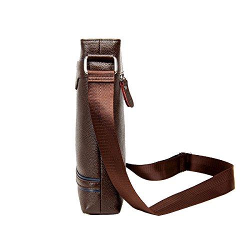 Yy.f Neue Mode-Business Lässige Herrentaschen Aktentaschen Klassische Praktische Reisetasche Computer-Tasche (schwarz Und Braun) Brown