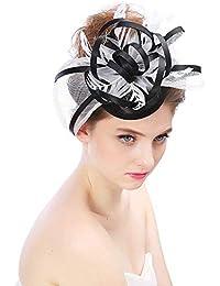 009f9821635c0 Eeayyygch Sombrero - señoras Tocado de otoño e Invierno Europa y América  Arco Hilado Lino Novia