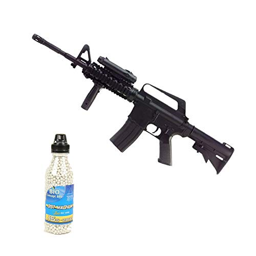 well Airsoft Pack Rifle de Asalto M16A4 RIS Spring Bottle 2000 Bolas ofrecidas (0.4 Julios)