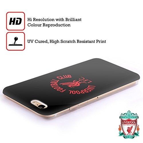 Officiel Liverpool Football Club Rouge Logo Sur Blanc Liver Bird Étui Coque en Gel molle pour Apple iPhone 6 / 6s Rouge LFC Sur Noir