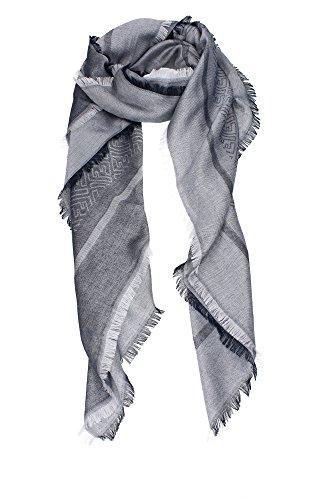 foulard-schals-fendi-damen-modal-blau-und-grau-fxt069t7tf0qrs-blau-140x140-cm