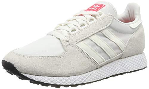 adidas Damen Forest Grove W Gymnastikschuhe, Weiß (Cloud White/Cloud White/Shock Red Cloud White/Cloud White/Shock Red), 37 1/3 EU(4.5UK)