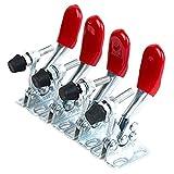 4 Stück Kniehebelspanner Knebelklemme Eingestellt GH-201A Horizontale Schnellspann-Toggle Klammern Handwerkzeug