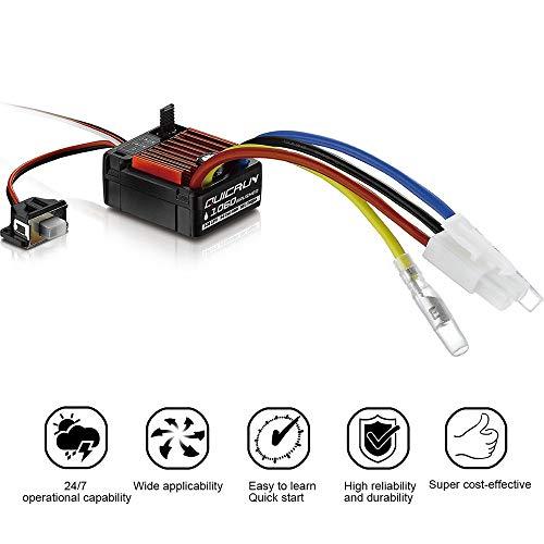 TianranRT HobbyWing QuicRun 1/10 Wasserdicht Gebürstet 60A Elektronisch Geschwindigkeit Regler ESC