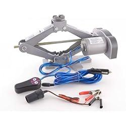 FK Automotive FKTO010015 - Gato eléctrico con control remoto (12V), color gris