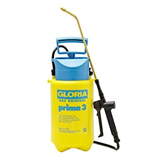GLORIA Prima 3 Litre 3 bar Garden Pressure Sprayer Piston Pressure gauge