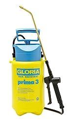GLORIA Drucksprüher Prima 3, Unkrautspritze, 3L, verstellbare Messingdüse