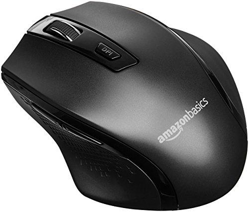 AmazonBasics - Ergonomische kabellose Maus - DPI einstellbar - Schwarz