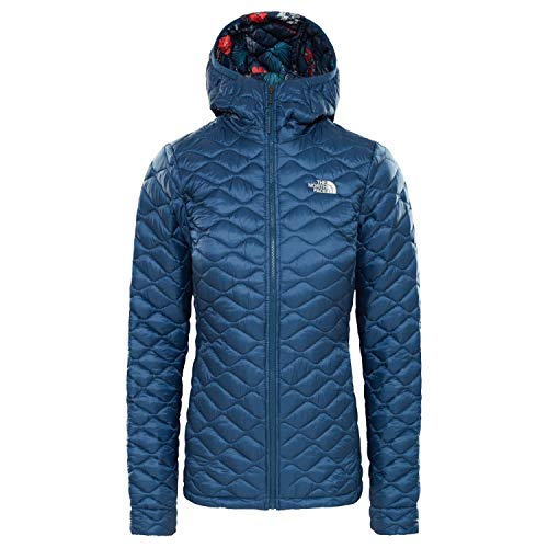 THE NORTH FACE Thermoball Hoodie Women Blue Wing Teal/Blue Wing Teal Joshua Tree Print Größe L 2019 Jacke North Face Ladies Ski