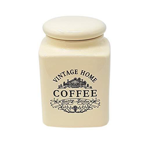 Luxus Küche Vintage Kaffeedose Behälter Aufbewahrung Creme Porzellan Steingut 0.7KILO - 1.50LBS