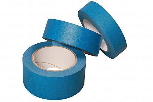 6 Rollen Malerkrepp. 50mm x 50 Meter. Blau. Abklebeband. Kreppband. Abdeckband. Malerband. Klebeband. Malerkreppband