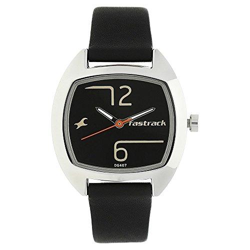 41DUUeXA43L - Fastrack Women Steel Leather Strap watch