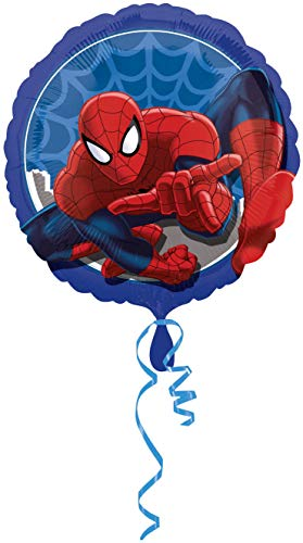 Ballonim Spider Man Rund ca. 45cm Luftballons Folienballon Party Dekoration Geburtstag (Geburtstag Dekorationen Spiderman)