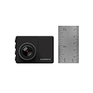 """Garmin Dash Cam 65, 1080p 2.0"""" LCD Screen, Extremely Small GPS-enabled Dash Camera, Extra Wide 180-Degree Field of View, Voice Control, Loop Recording, G-Sensor and Driver Alerts, Includes Memory Card"""