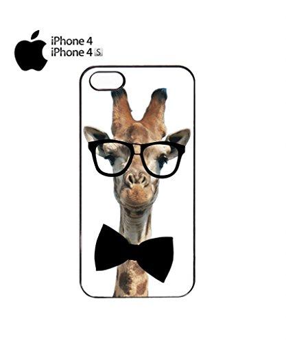 Geek Giraffe Nerd Geek Bow Tie Mobile Cell Phone Case Cover iPhone 5c Black Noir