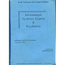 Memoire de fin d'assistanat - 8 novembre 1989 - informatique - systemes experts et psychatrie