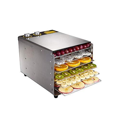 6 vassoio asciugatrice frutta essiccatore macchina cibo conservatore disidratatore grande acciaio inox essiccatore per alimenti con controllo della temperatura regolabile