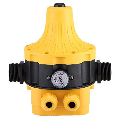FTVOGUE - Interruptor automático de presión de Bomba de Agua con manómetro y Mando de presión para el hogar