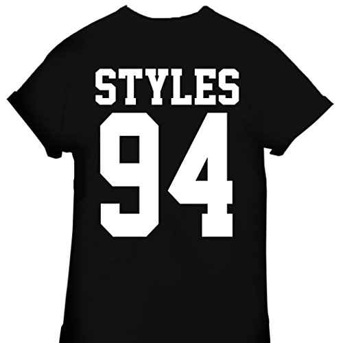 New unisexe 94 t shirt harry styles one direction et zayn malik horan tumblr - Noir - Medium