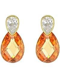 Carissima Gold - Boucles d'Oreilles Pendantes - 1.58.6869 - Femme - Or Jaune 375/1000 (9 Cts) 0.19 Gr - Oxyde de zirconium
