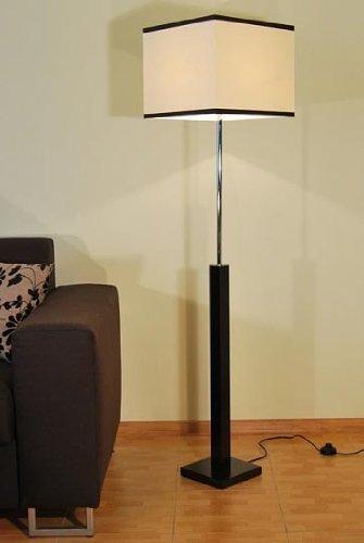 Kaiser-Handel Designer Stehlampe Standlampe Säulen Leuchte Retro Lampe Design Küche Büro Paris 19a (Standfußfarbe: Wenge) (Säule Stehlampe)