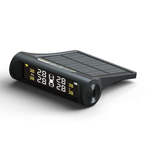 Smart Car TPMS Solar Powered Tire Pressure Detector Solar Charging Digital LCD Monitor Vehicle Monitoring System Solar-monitoring-system
