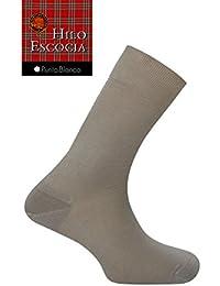 Punto Blanco - Calcetines Hombre Hilo de Escocia PUNTO BLANCO 100% Algodón - MARRON,