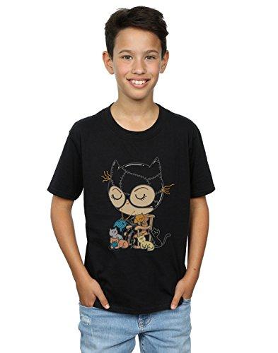 Pepe Rodriguez Jungen Cat Lady T-Shirt Schwarz 12-13 years (Dunklen Cat-womens T-shirt)