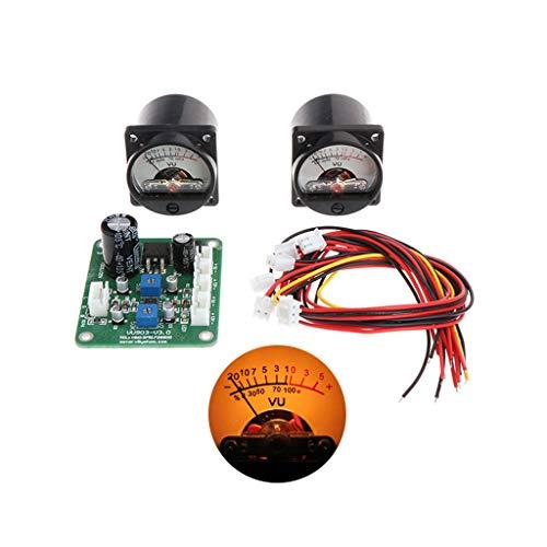 Jenor VU Panel Meter warme Hintergrundbeleuchtung Aufnahme + langlebiges Driver Board Modul + Kabel