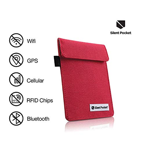Silent bolsillo Key Fob protector pantalla para inalámbrico coche llaves–RFID bloqueo jaula de Faraday
