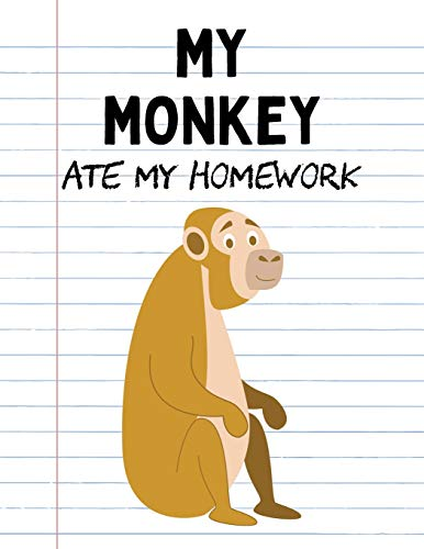 ework: Funny Blank Lined Notebook - Indian Monkey (Cute Novelty Notebooks for School Kids, Band 36) ()