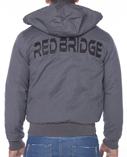 Red Bridge Herren Big Letters Jacke Jacket Grau Anthrazit