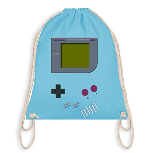 eeks - Gameboy - Unisize - Hellblau - WM110 - Turnbeutel I Gym Bag (Nerd Kostüm Kinder)